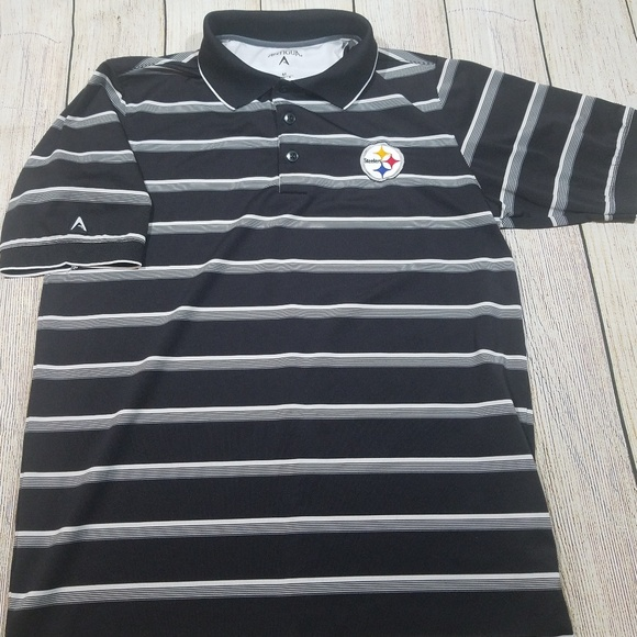 Nfl Pittsburgh Steelers Mens Golf Polo